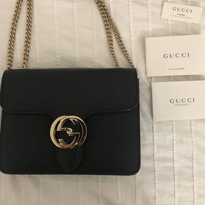 ORIGINAL ! Black Gucci -Crossbody Bag
